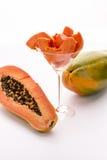 Tangerine πολτός και πικάντικοι σπόροι - Papaya στοκ εικόνες με δικαίωμα ελεύθερης χρήσης