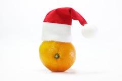 Tangerine σε μια άσπρη ανασκόπηση Στοκ Φωτογραφία