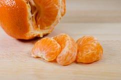 Tangerine τμήματα στοκ εικόνες