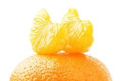 tangerine τμημάτων Στοκ εικόνα με δικαίωμα ελεύθερης χρήσης