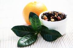 tangerine τσάι στοκ εικόνα