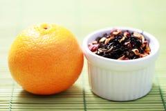 tangerine τσάι στοκ εικόνες