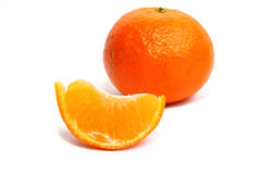 tangerine φετών ανασκόπησης λευ&kappa Στοκ φωτογραφία με δικαίωμα ελεύθερης χρήσης