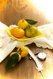 Tangerine и объекты Стоковые Фото
