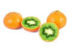 Tangerine-киви плодоовощ Ibrid Стоковые Фотографии RF