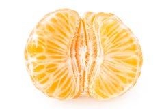 Tangerine с этапами стоковое изображение rf