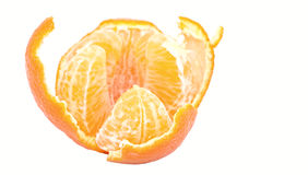 Tangerine. Peeled Tangerine isolated on a white background Stock Image