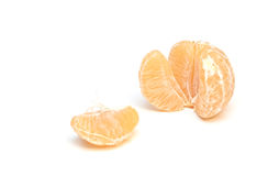 Tangerine. Peeled Tangerine isolated on a white background Stock Photo
