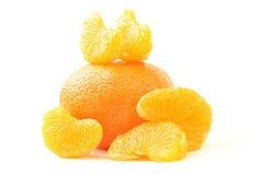 Tangerine. Ripe bright orange tangerine isolated on white background Stock Photography
