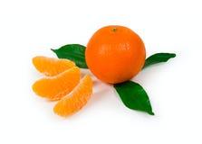 Tangerine. Ripe tangerine ona white background. isolated path included royalty free stock photo