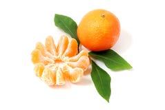 Tangerine. Fresh Tangerine Fruits Isolated on White background Stock Photography