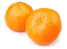 Tangerine. Two on white background Royalty Free Stock Photography
