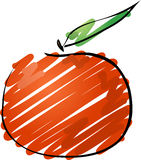 Tangerine. Fruit, hand drawn colored lineart illustration rough sketchy coloring Vector illustration available for download. Click here for more vectors vector illustration
