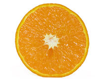 Tangerine. Slice of tangerine isolated on a white background Stock Photography