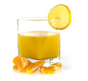 Tangerine. With juice on white royalty free stock photos
