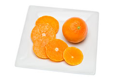 Tangerine. Citrus fruit has a lot of vitamins and low in calories Royalty Free Stock Photo