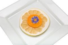 Tangerine. Citrus fruit has a lot of vitamins and low in calories Stock Photos