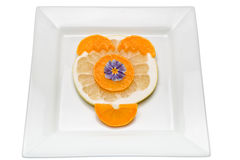 Tangerine. Citrus fruit has a lot of vitamins and low in calories Stock Photography