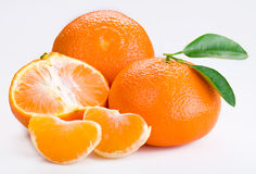 Tangerine. Are on a white background Stock Photography
