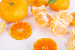Tangerine. A pile of nutrient-rich orange Stock Photo
