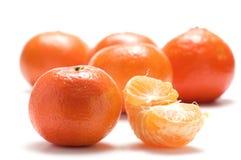 Tangerine And Half Tangerine Royalty Free Stock Photos