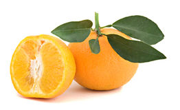 Tangerine And Its Section Royalty Free Stock Images