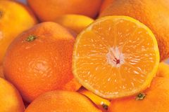 Tangerine background. Tangerines close-up Stock Photo