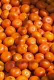 Tangerine background. At street market Royalty Free Stock Photo