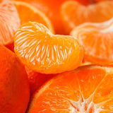 Tangerine background. Sweet tangerine fruit closeup background Stock Photo