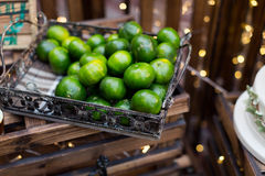 Tangerine. In the basket at party Stock Photography
