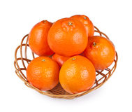 Tangerine in basket Royalty Free Stock Image