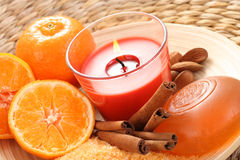 Tangerine bath Royalty Free Stock Photo