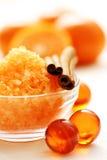 Tangerine bath Stock Photos