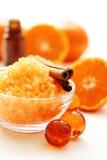 Tangerine bath Royalty Free Stock Photography