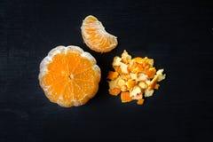 Tangerine. In black background Stock Photo