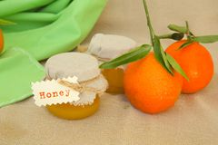 Tangerine blossom honey Royalty Free Stock Photo