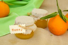 Tangerine blossom honey Royalty Free Stock Photography