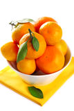 Tangerine in bowl Royalty Free Stock Photos