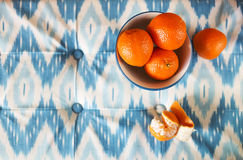 Tangerine in the bowl Royalty Free Stock Image