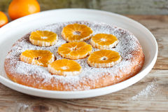 Tangerine cake Stock Photo