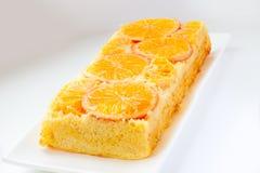 Tangerine cake Stock Images