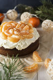Tangerine Cake Stock Photos