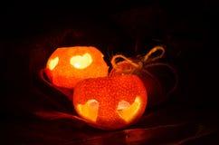 Tangerine candlestick Stock Photography