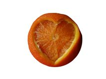Tangerine with carved heart Royalty Free Stock Images