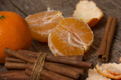Tangerine  and cinnamon Royalty Free Stock Photos