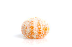 Tangerine citric fruit orange peeled isolated on white backgroun Stock Photo