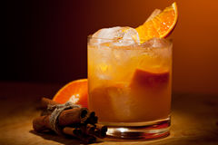 Tangerine Cocktail Stock Image