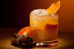 Tangerine Cocktail. Vodka, Tangerine, Lime Juice and Cinnamon Syrup Stock Image