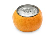 Tangerine , with a cover of gin. Stock Images