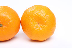 Tangerine cut. On white background royalty free stock images